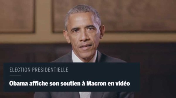Obama apporte son soutien à Macron https://t.co/kqOjmfLkN1 #Politique #BarackObama