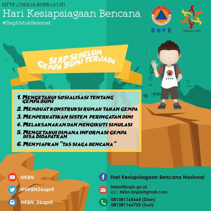 Hari Kesiapsiagaan Bencana, @BNPB_Indonesia Ajak