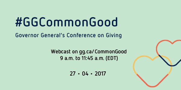 Join us at the #GGCommonGood Conference! Watch it live and participate...