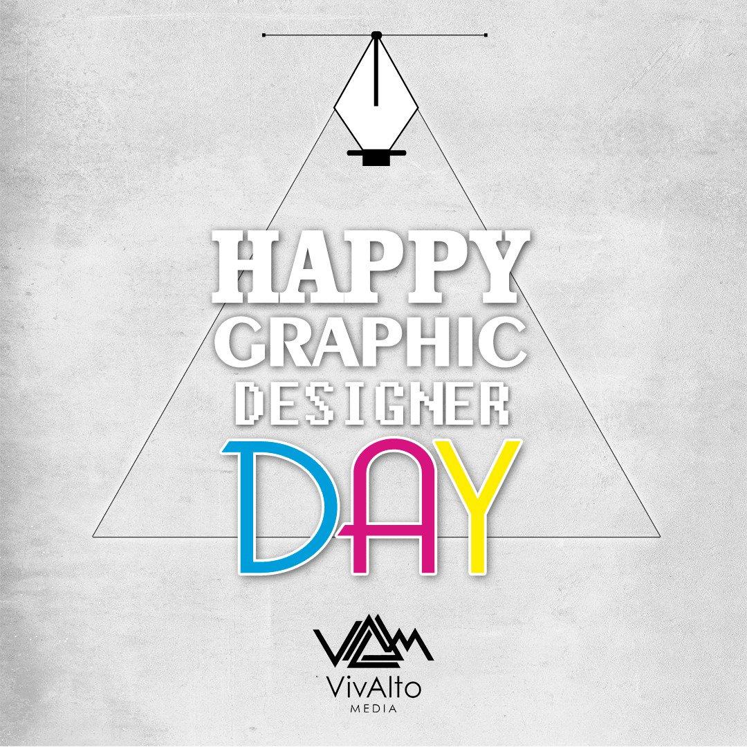 Feliz día a todos los diseñadores gráficos del mundo, especialmente al #TeamVivAlto #WorldDesignDay  #DiaDelDiseñador #DiaMundialDelDiseñopic.twitter.com/7J2xO382vI