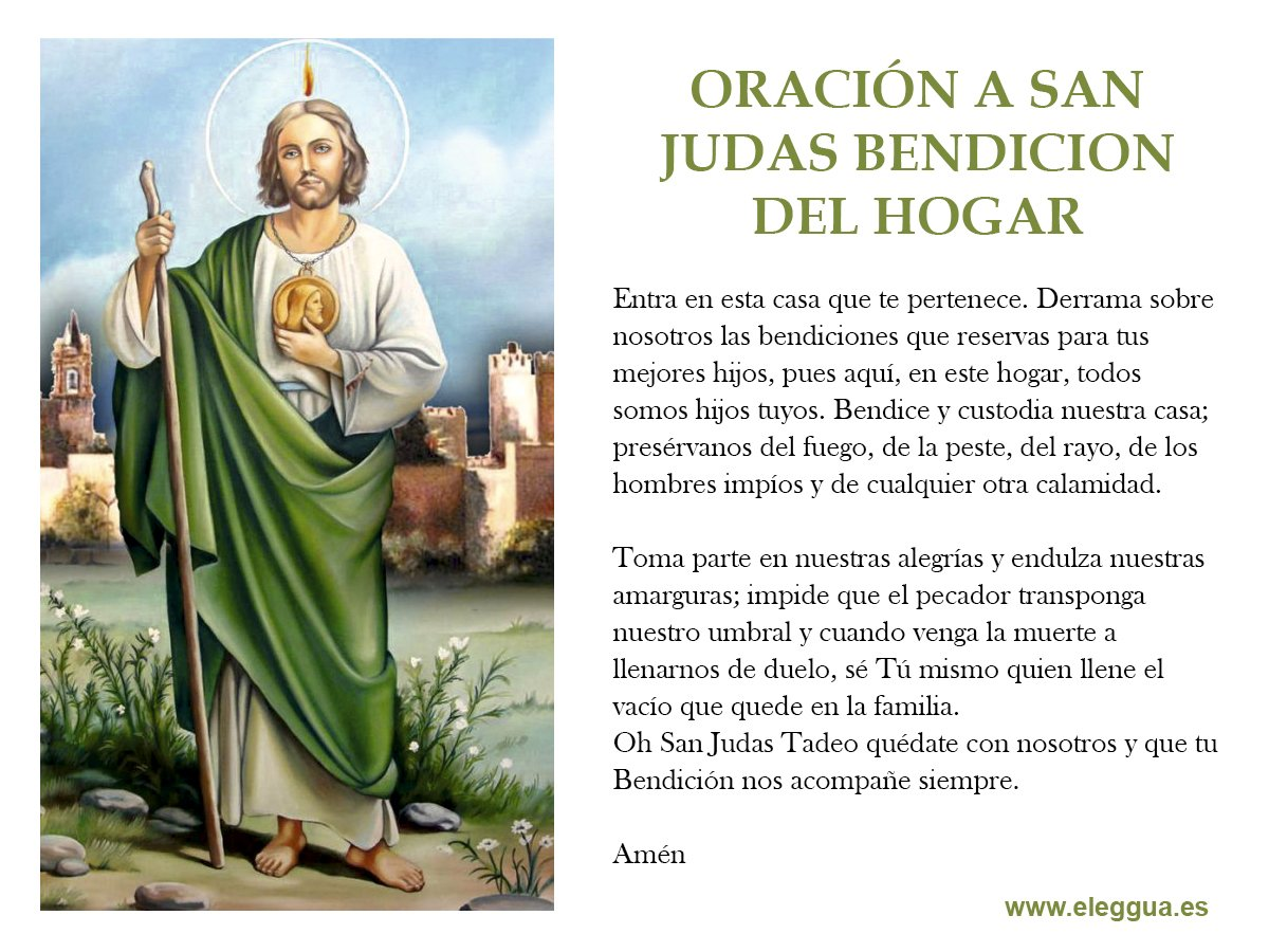 Eleggua On Twitter Oracion A San Judas Bendicion Del Hogar Https