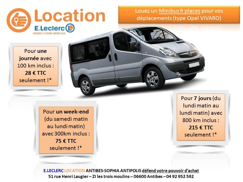 Location minibus 7 places leclerc