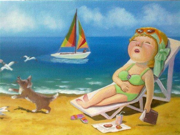 Смешные картинка отдыхающих на море женщин, выздоравливай