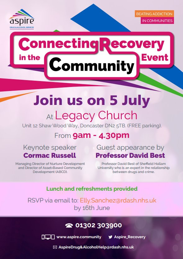Andy irving on twitter aspirerecovery great event on 5th july abcd cormacrussell and davidwbest12 about connecting recovery in the community sarrgsheff httpstmsfm0uno4d altavistaventures Images