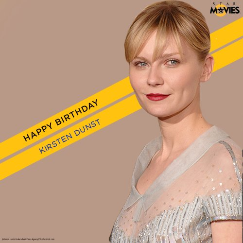 Lets wish the blue-eyed beauty Kirsten Dunst, a very Happy Birthday.