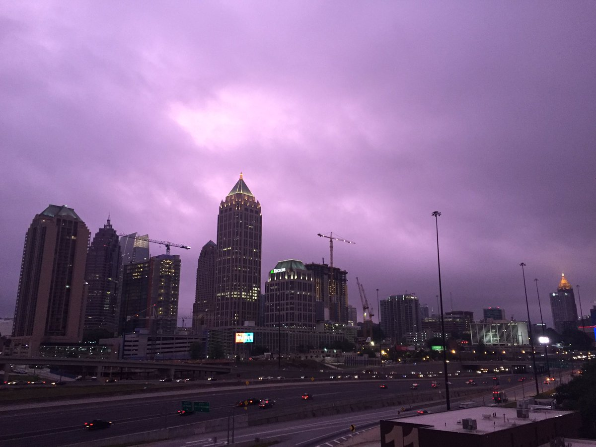 Our view of midtown #Atlanta as stormy weather moves in. #AtlantaAlive...