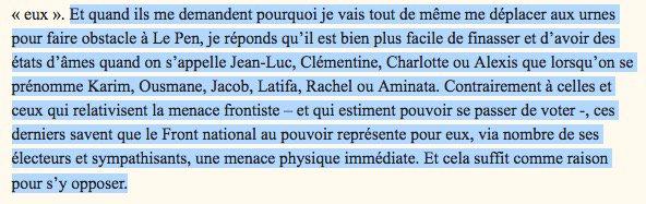« Voter Macron, oui hélas... » [par @akrambelkaid] https://t.co/si1NXihjJ8