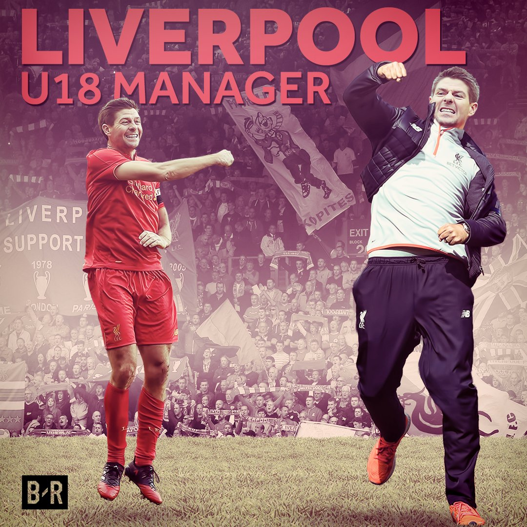 Liverpool club legend Steven Gerrard takes his first steps into manage...