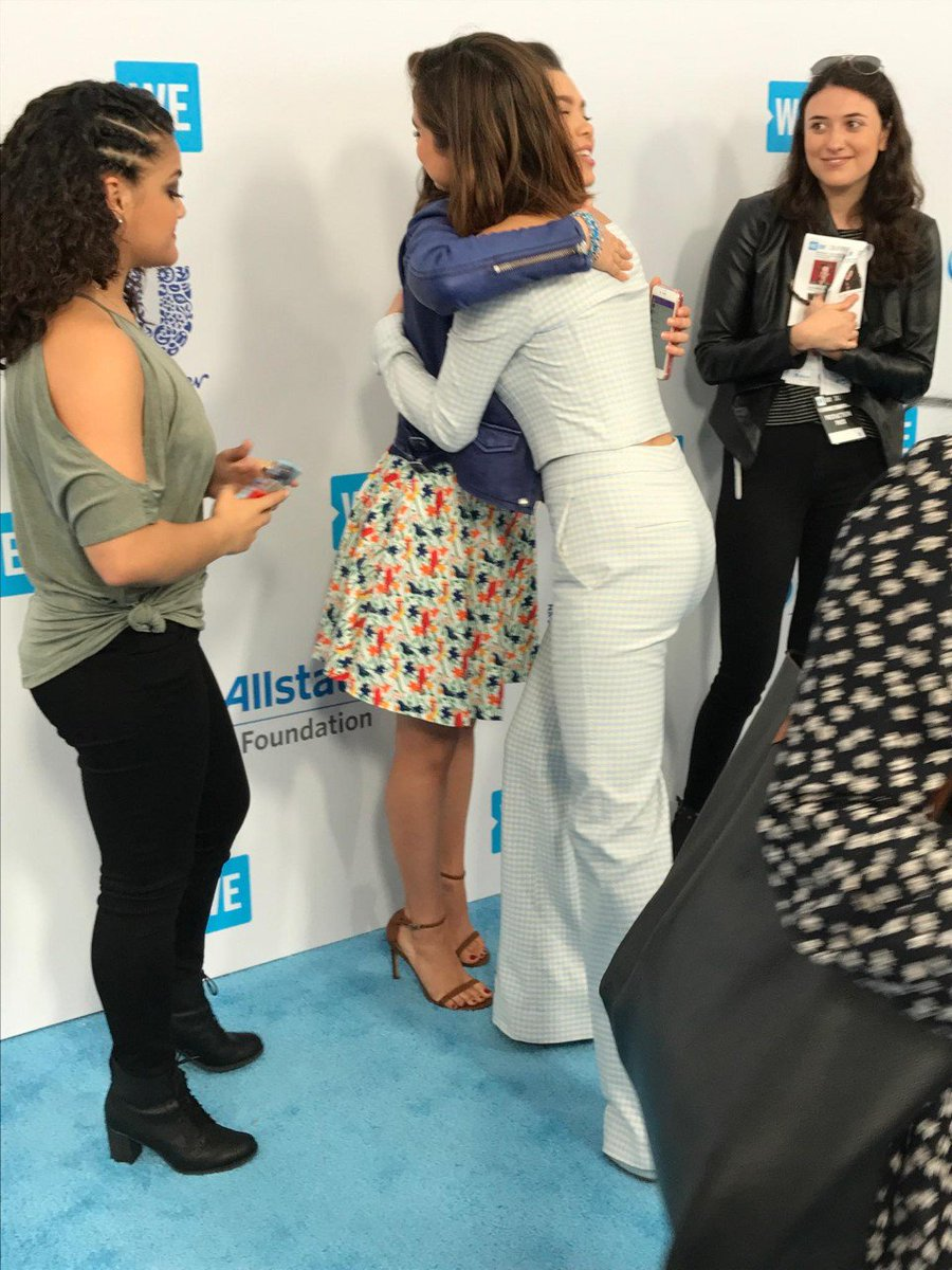 All the feels on the #WEDay red carpet. @SelenaGomez @auliicravalho ht...