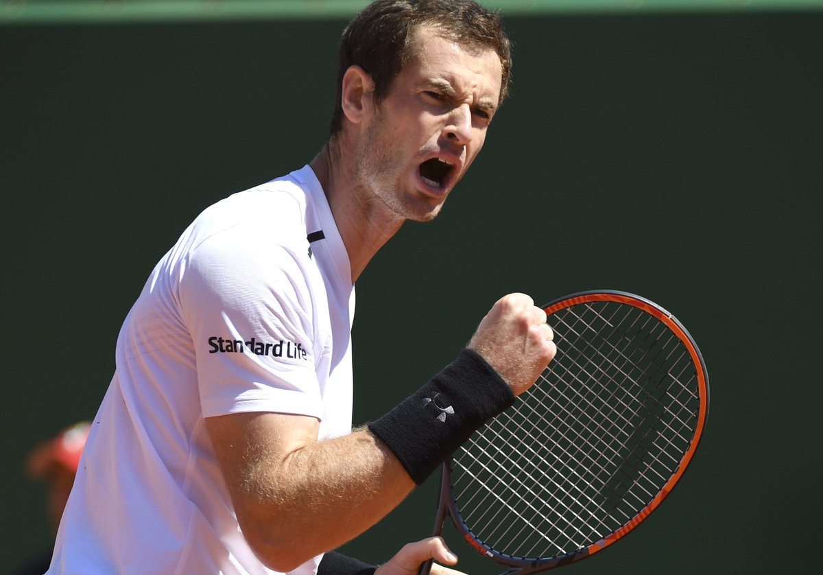 Come on! @andy_murray gets the win in #Barcelona beating Lopez 6-4, 6-4 #BackTheBrits <br>http://pic.twitter.com/UdXmthEM73