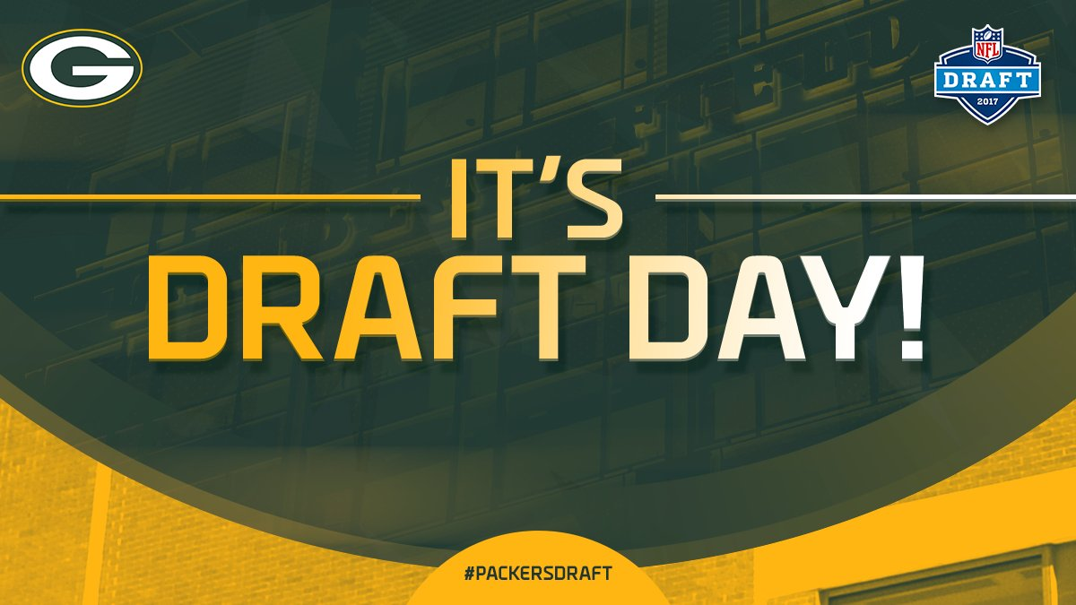 It's here! #PackersDraft #NFLDraft https://t.co/6S5bAWNTJR