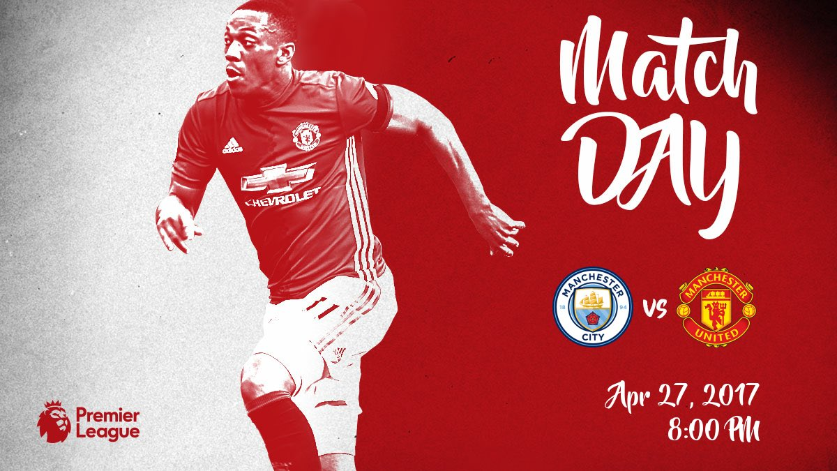 Derby day ! Come on #MUFC 🔴 https://t.co/6LXwqdKC4O
