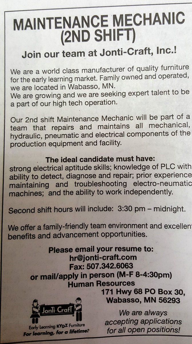 Nick Schwarz on Twitter Recent job maintenance