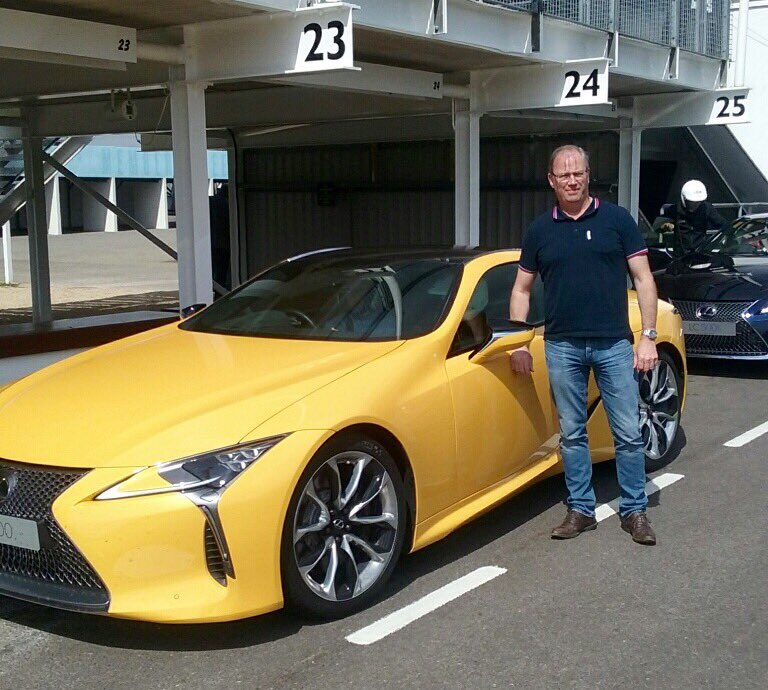@glasssguide Andy Cutler Pictured With #Lexus #CL500 V8 In Yellow U0026 Their  #LexusGT #LexusRacing Version #Goodwoodpic.twitter.com/VK4ErNDYpG