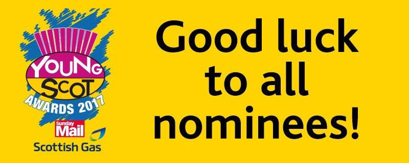 Good luck to all amazing nominees @YoungScot #YSAwards tonight in Glas...