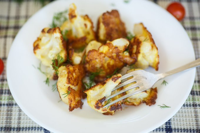 Spring recipes: cauliflower fritters