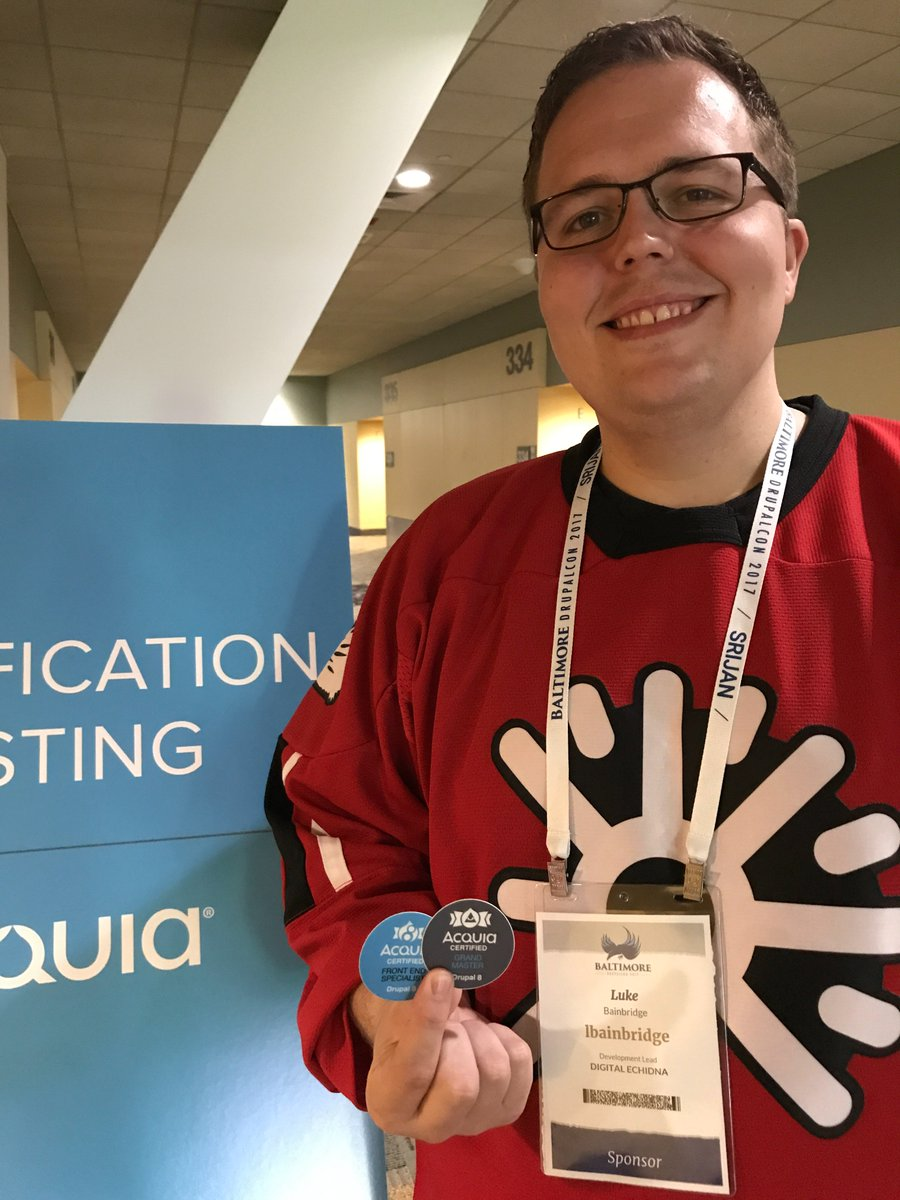 Acquia academy on twitter hurrah for midnightluke of acquia academy on twitter hurrah for midnightluke of digitalechidna for bagging acquia certified front end specialist d8 and earning drupal 8 grand xflitez Images
