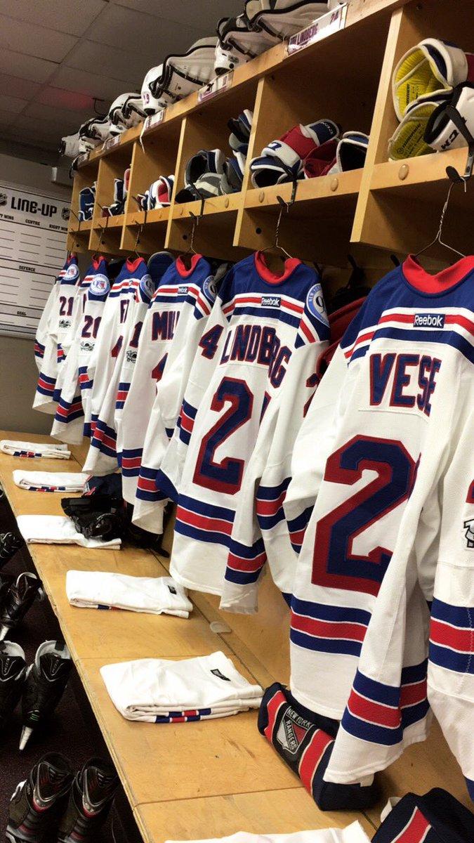 #Blueshirts locker room getting set in Ottawa! https://t.co/R8iHJ6SgqB