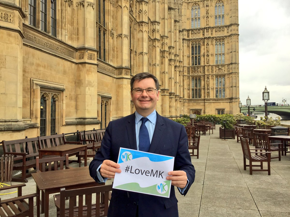 Sending my #LoveMK from Parliament! Some great photos on @DestinationM...