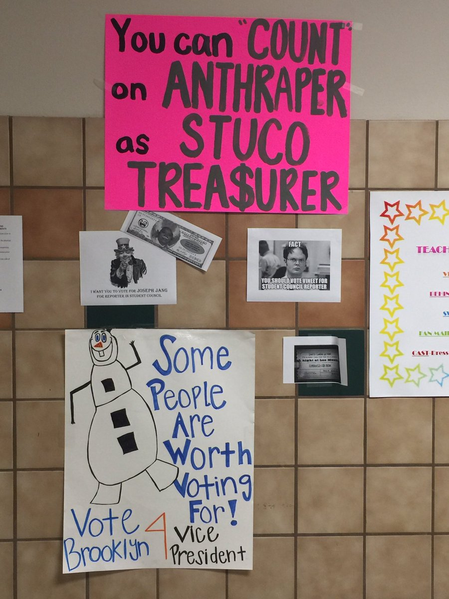 felisha brown on twitter chs student council campaign posters