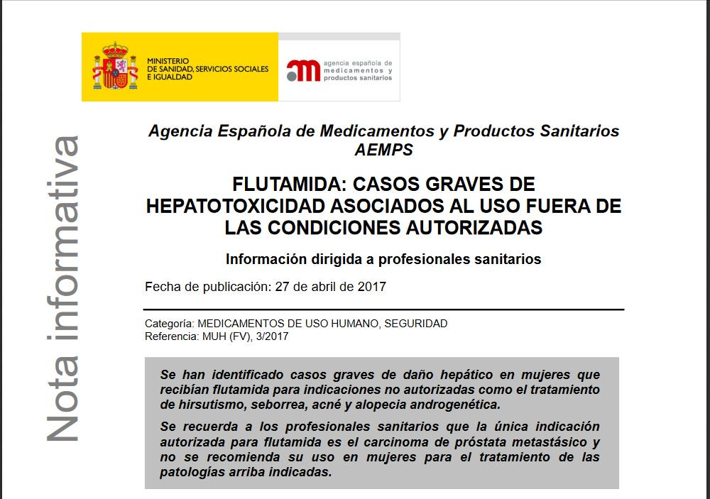 Aemps On Twitter Flutamida Casos Graves De Hepatotoxicidad