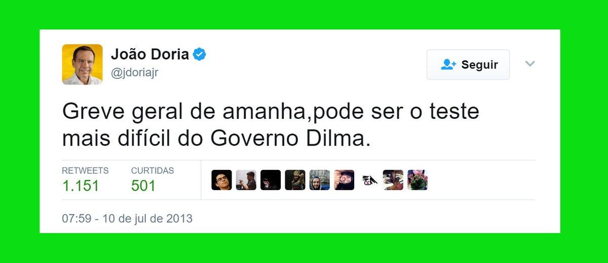 GREVE SIM  Parafraseando Doria Jr., Greve Geral de amanhã pode ser o teste mais difícil do Governo Temer.  #EuApoioAGreveGeral
