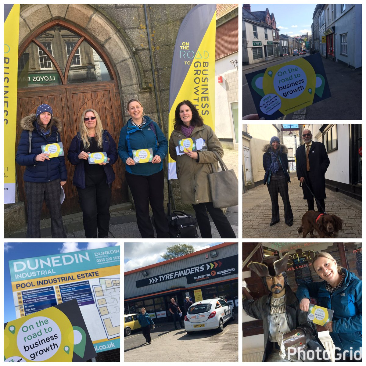 Big thanks to all the businesses we spoke to today in Redruth #TownTak...