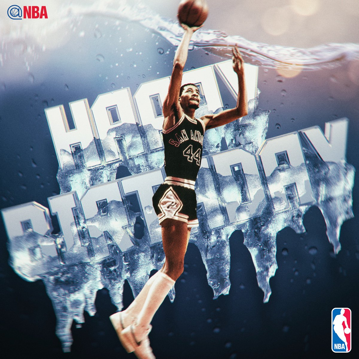 """Happy 65th Birthday to George """"Iceman"""" Gervin! #NBABDAY https://t.co/9..."""