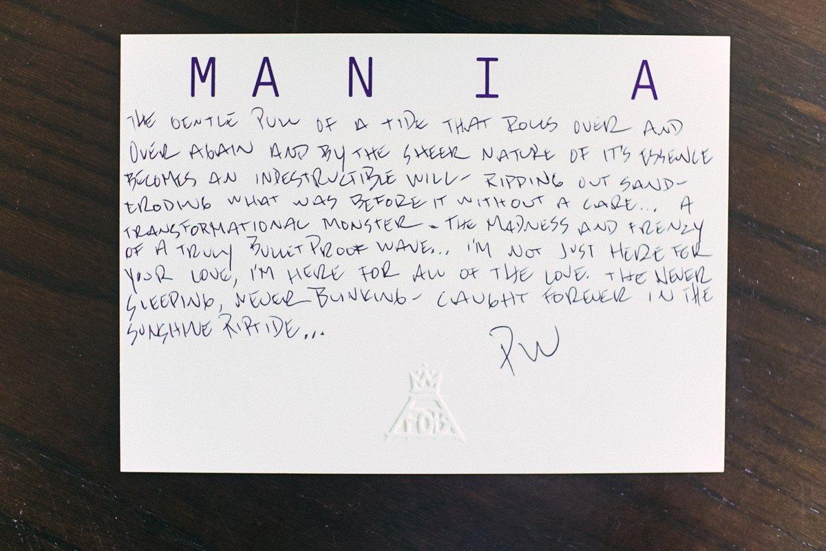 Welcome to M A  N   I    A - a Fall Out Boy LP https://t.co/IGrNESldQv
