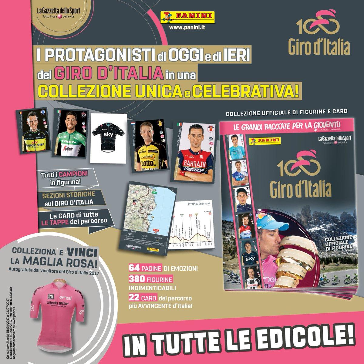 Giro d'Italia N°100: Diretta TV e Streaming Web + collezione di Figurine Panini