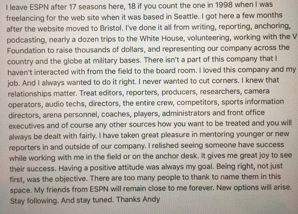 Andy Katz message