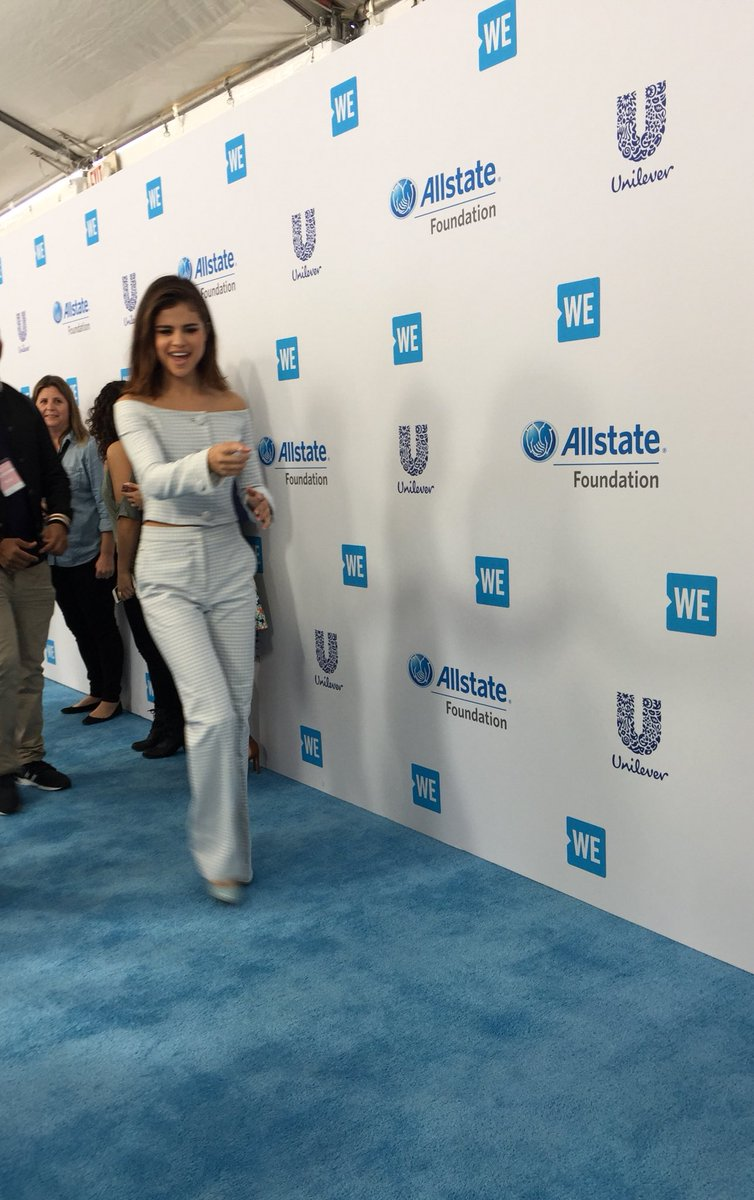 .@selenagomez is dancing her way down the @WEMovement #WeDay carpet! 💙...