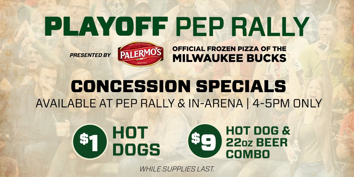 Join us at the @BMOHBC early for the @Palermos_Pizza Pep Rally!!  #Fea...