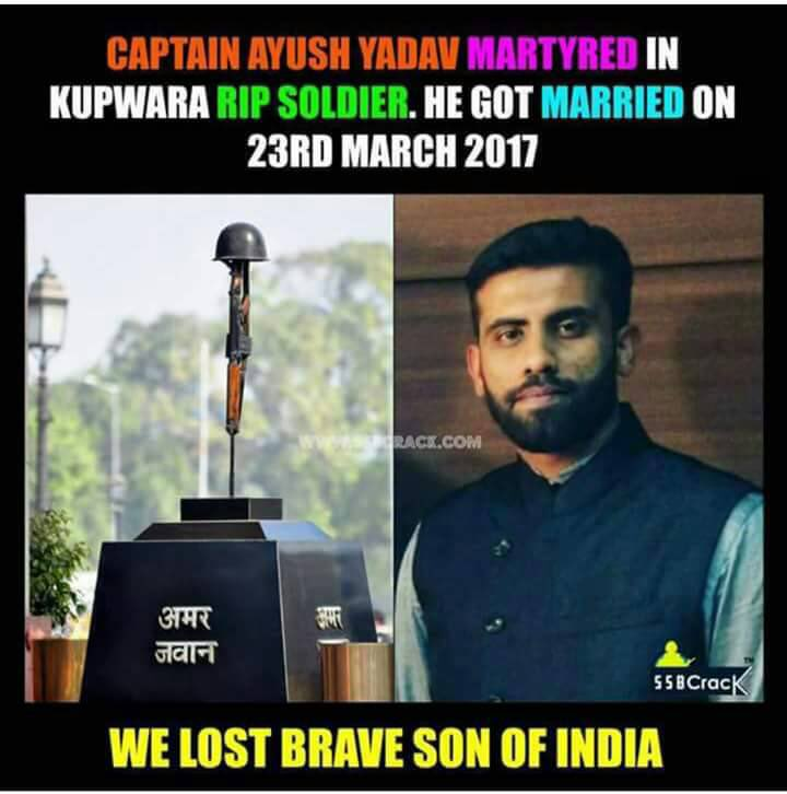 'U fail as a nation when 70yrs old #VinodKhanna is mourned MORE than 25 yrs old Capt Ayush Yadav who lost his life at #Kupwara'