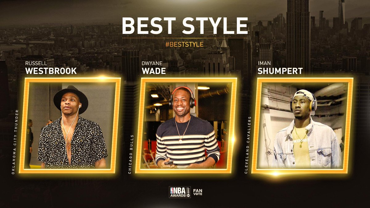 Which player had the BEST STYLE this year? Vote using player's name and #BestStyle. #NBAAwards