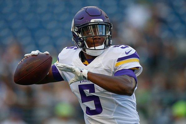 WATCH: Are the Minnesota Vikings thinking quarterback? #NFLDraft https...