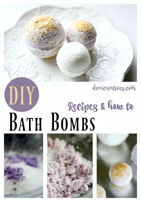 DIY Beauty Recipes: How To Make Bath Bombs And Lavender Mica Gold Bath Recipe