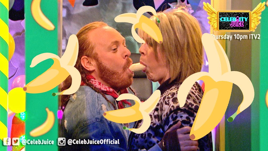 It's totally BANANAS this show isn't it 🍌🍌🍌 #CelebJuice Send us your t...