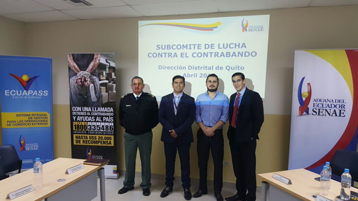 """SENAE_Aduana on Twitter: """"En #Quito se realizó el 1er Subcomite de Lucha  Contra el Contrabando con actores del sector privado para la erradicación  del contrabando… https://t.co/vj4LBIWzi4"""""""