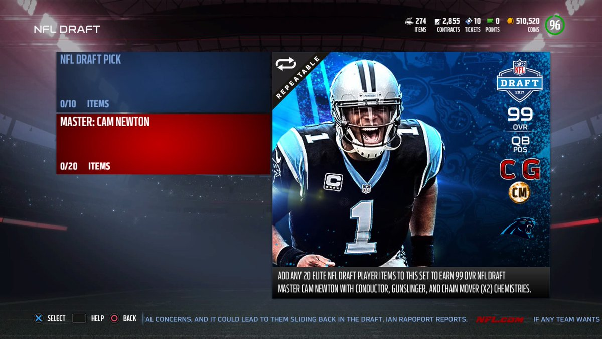 99 Cam Set Info And New Draft Packs Any 20 Elite Players For