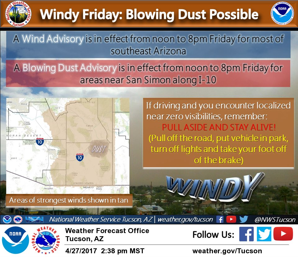 Friday Follow Along_10 >> Nws Tucson On Twitter 3 15 Pm Update Fire Weather Watch Added