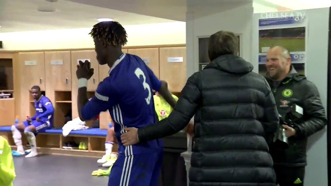 Not even Antonio Conte could stop Trevoh Chalobah last night...😂