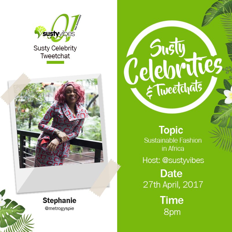 Our chat with @metrogypsie is about to start! #SustyCelebChats #OneYearofSustyVibes https://t.co/wthIFp61th