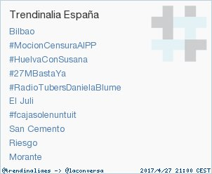 #RadioTubersDanielaBlume acaba de convertirse en TT ocupando la 5ª pos...