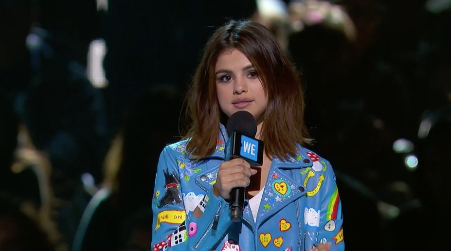 'You are who you surround yourself with. That's why I come to #WEDay''...