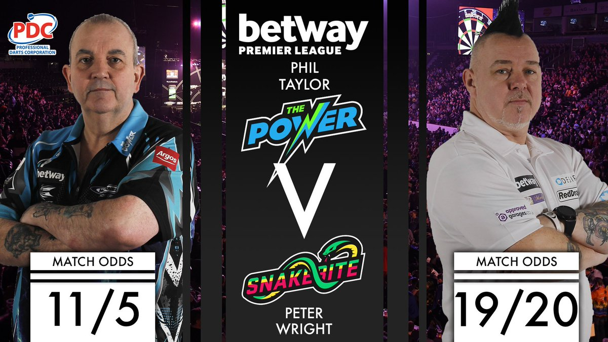 UP NEXT! Phil Taylor takes on Peter Wright with both looking to cement...