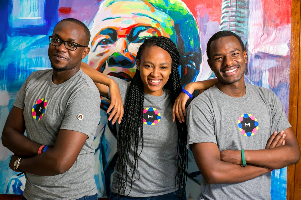 A great photo of 3 out of the 4 members of our African based MetaLab team!