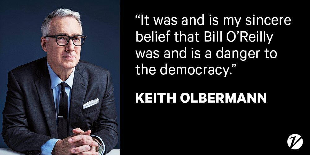 .@KeithOlbermann details his feud with Bill O'Reilly in a guest column...
