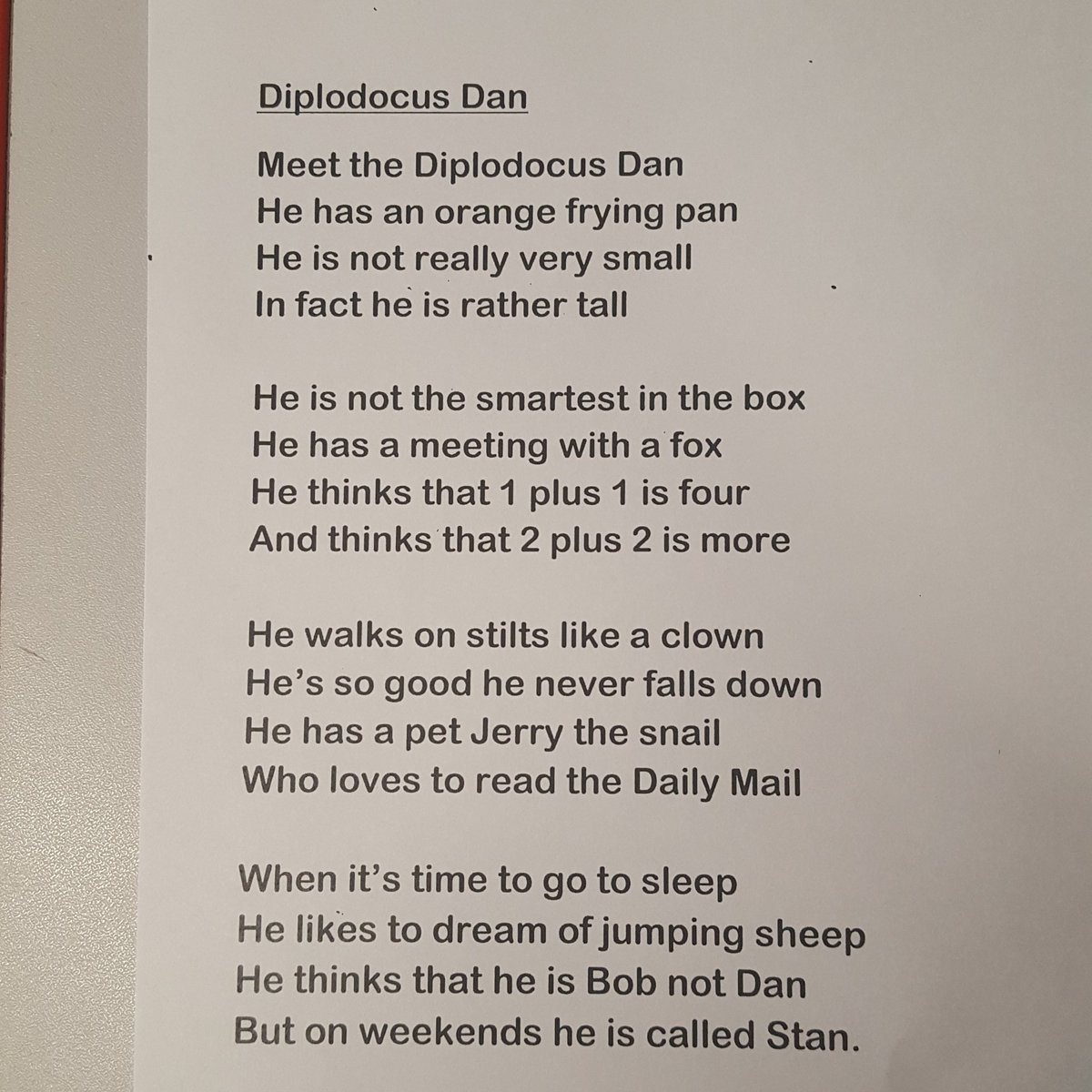 Archibaldfirst On Twitter Look At This Fantastic Poem From