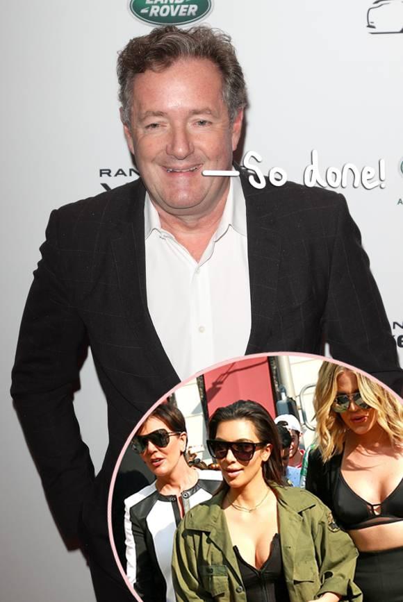 .@piersmorgan is DONE with the Kardashians! https://t.co/CjZfmW0Edn https://t.co/szJLMT1PGJ